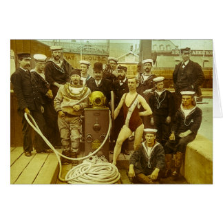 Royal Naval Exhibition 1891 Magic Lantern Slide Greeting Card