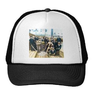 Royal Naval Exhibition 1891 Vintage Hardhat Diver Mesh Hat