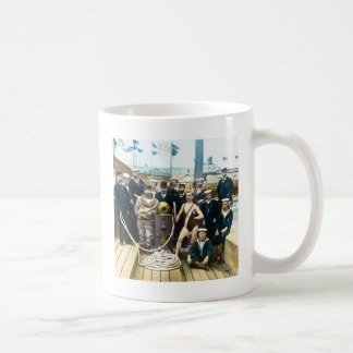 Royal Naval Exhibition 1891 Vintage Hardhat Diver Coffee Mug
