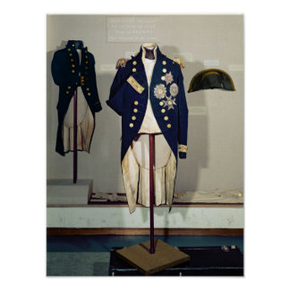 Royal Naval uniform worn Poster