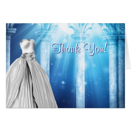 Royal Navy Blue Dress Thank You Cards