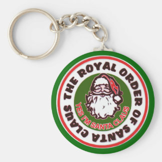 Royal Order of Santa Claus Basic Round Button Key Ring
