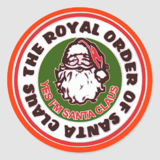 Royal Order of Santa Claus Classic Round Sticker