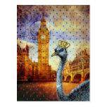 Royal Ostrich in London Postcard