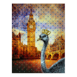 Royal Ostrich in London Postcard