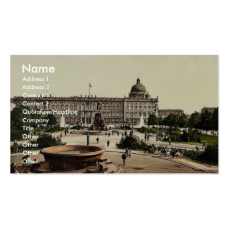 Royal Palace and Pleasure Garden, Berlin, Germany Business Cards
