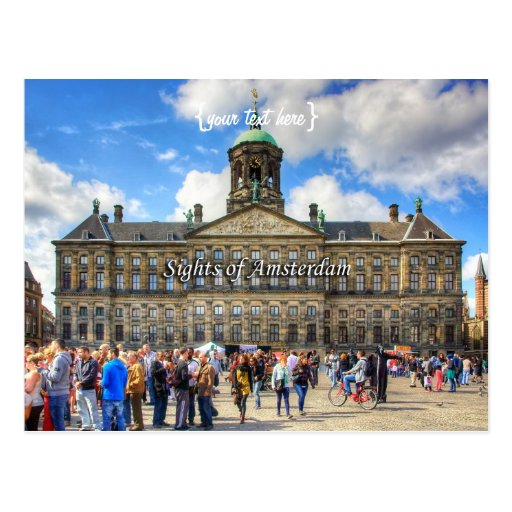 Royal Palace - Dam Square, Sights of Amsterdam Post Cards