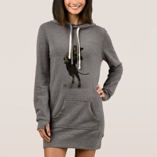 Royal Panther Woman's Hoodie Dress