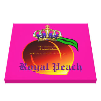 Royal Peach Drink Recipe Stretched Canvas Prints