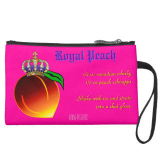Royal Peach Drink Recipe Wristlet Clutches