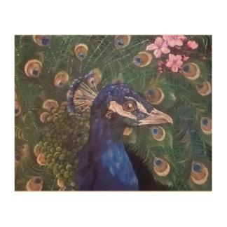 Royal Peacock Wood Print