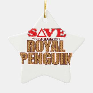 Royal Penguin Save Christmas Ornament