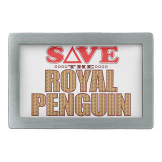 Royal Penguin Save Rectangular Belt Buckle