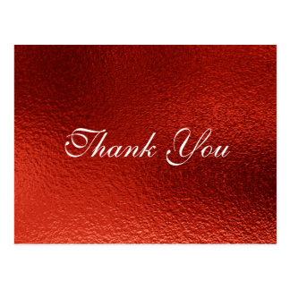 Royal Personalized Red Metallic Shiny  Postcard