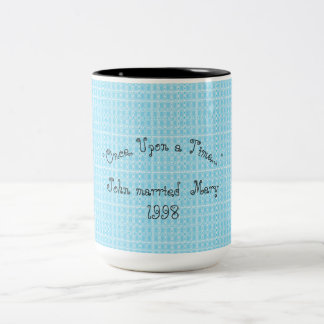 Royal-Plaid_Celebration-Template-Once Upon a Time. Two-Tone Coffee Mug