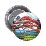 Royal Poinciana Tree Art 6 Cm Round Badge