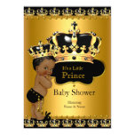 Royal Prince Baby Shower Black Gold Ethnic 13 Cm X 18 Cm Invitation Card