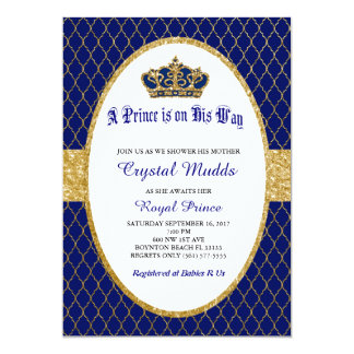 Royal Prince Baby Shower Theme Invitations Announcements
