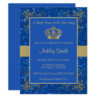 Royal Prince Baby Shower Invitation   Personalized