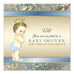 Royal Prince Baby Shower Personalised Announcement