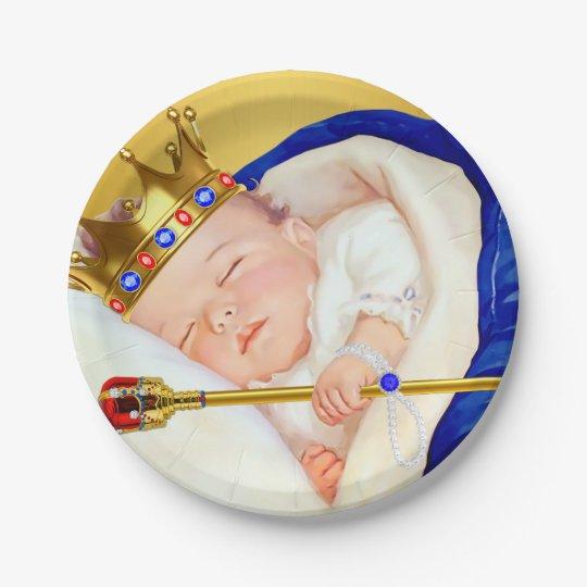 Royal Prince Boy Baby Shower 7 Inch Paper