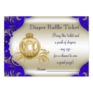 Royal Prince Diaper Raffle Tickets Pack Of Chubby Business Cards