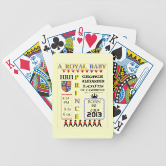 Royal Prince George of Cambridge Typography Bicycle Playing Cards