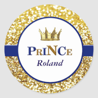 Royal prince stickers in blue and gold