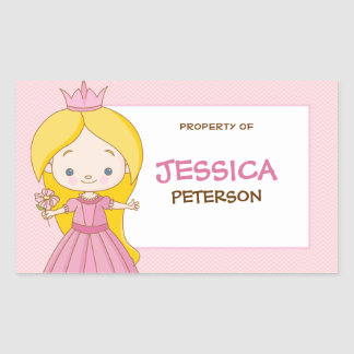 Royal Princess Book Label / Gift Tag Sticker