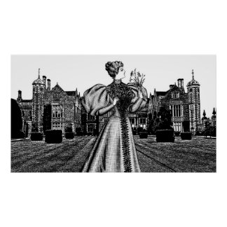 Royal Princess Castle manor Abstract art Poster