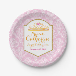 Royal Princess Celebration Paper Plate 7 Inch Paper Plate