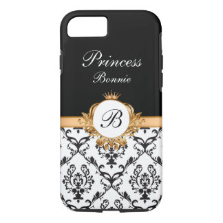 Royal Princess Crown Monogram iPhone 7 Case