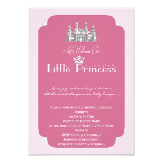 Royal Princess Pink Baby Girl Shower