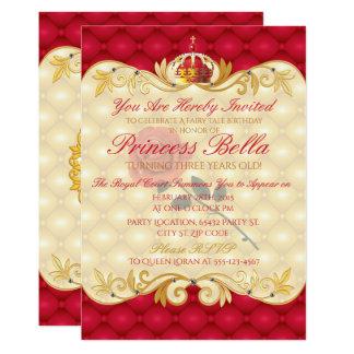 Royal Princess, Red Rose Birthday 13 Cm X 18 Cm Invitation Card