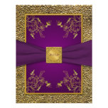 Royal Purple and Gold RSVP Card Personalized Announcements