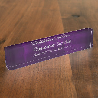 Royal Purple Customer Service Nameplate