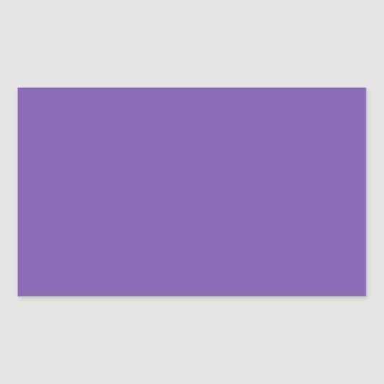 Royal Purple Designer Single Colour Rectangular Sticker
