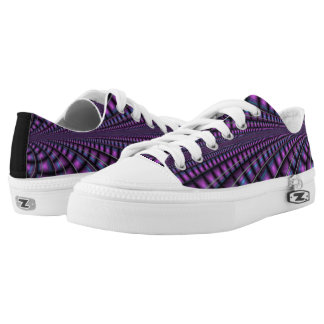Royal Purple Draped Fractal Shoes