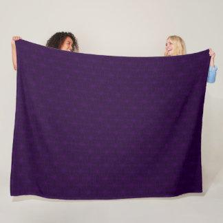 Royal Purple Exotic Snowflake Silk Pattern Fleece Blanket