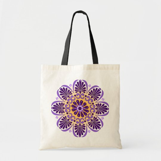 Royal Purple Mandala Shopping Tote Bag
