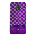 Royal Purple Silver Gem Personalised Case For Galaxy S5
