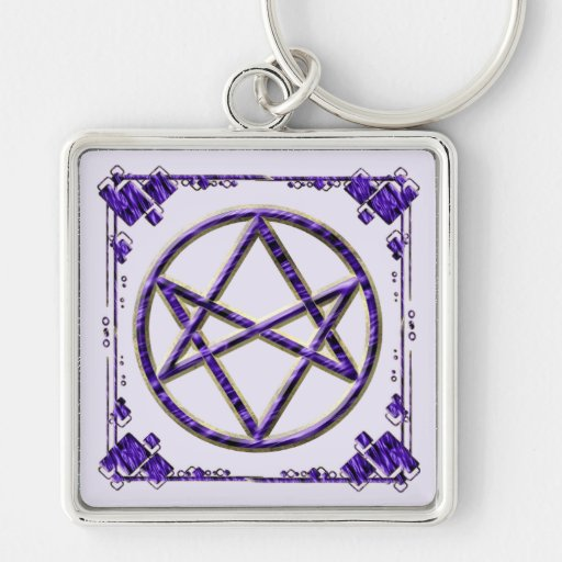Royal Purple Unicursal Keychains