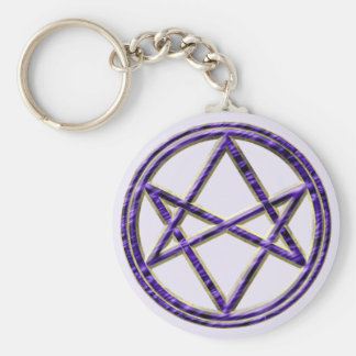 Royal Purple Unicursal Key Chains