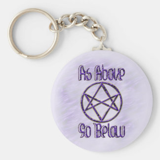 Royal Purple Unicursal Key Ring