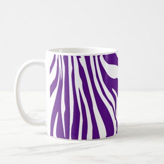 Royal purple zebra print coffee mug