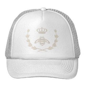 Royal Queen Bee Crown   Linen Beige Cap