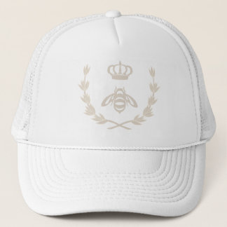 Royal Queen Bee Crown | Linen Beige Trucker Hat