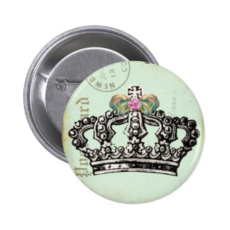RoYaL QUeeN CRoWN 6 Cm Round Badge