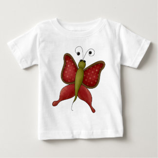 Royal Red Butterfly Baby T-Shirt