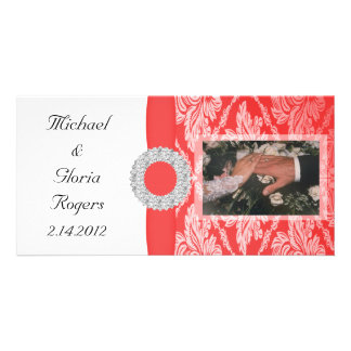 Royal Red Damask Set Picture Card